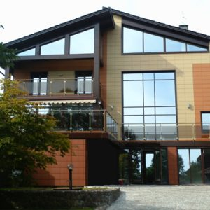Дом с красивым фасадом