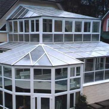 Стеклянная алюминиевая крыша