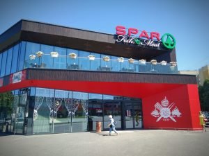 view of the entrance to the shopping center
