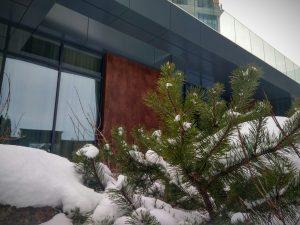 облицовка панелями здания