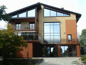 Панельный фасад дома