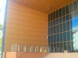 Фасад из алюминиевой композитной панели