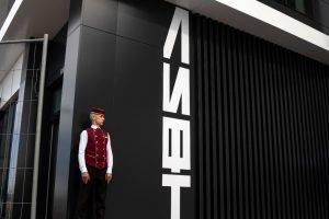 вход в лифт на променаде