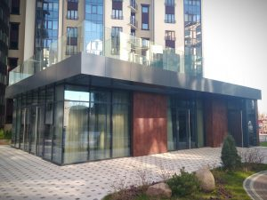 стильная постройка в жилом квартале