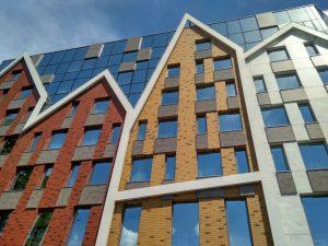 Фасад современного жилого дома