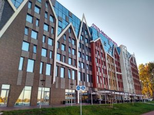 view of the hotel Mercure in Kaliningrad